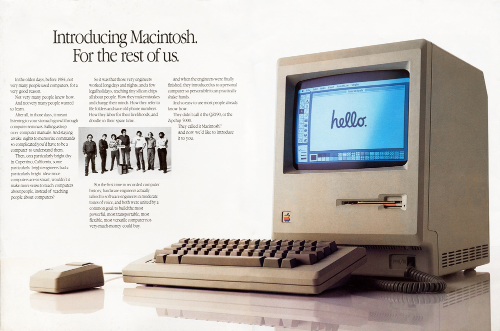 Apple Introducing Macintosh For the rest of us